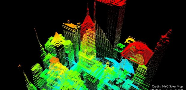 NYC Solar Map LiDAR, Sustainable CUNY