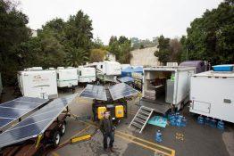Thanks to a solar system Bateman's new film doesn't need noisy generators