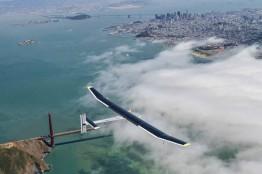 Solar Plane above Los Angeles