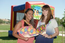 Sirin and her friend Lisa at the summer family party.