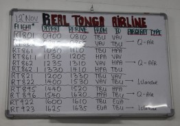 Timetable of the Real Tonga Airline