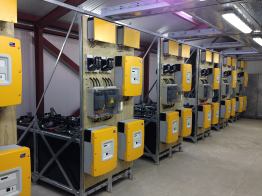 118 Sunny Island inverters control the off-grid system.