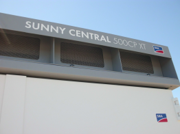 A Sunny Central CP was used as the replacement inverter