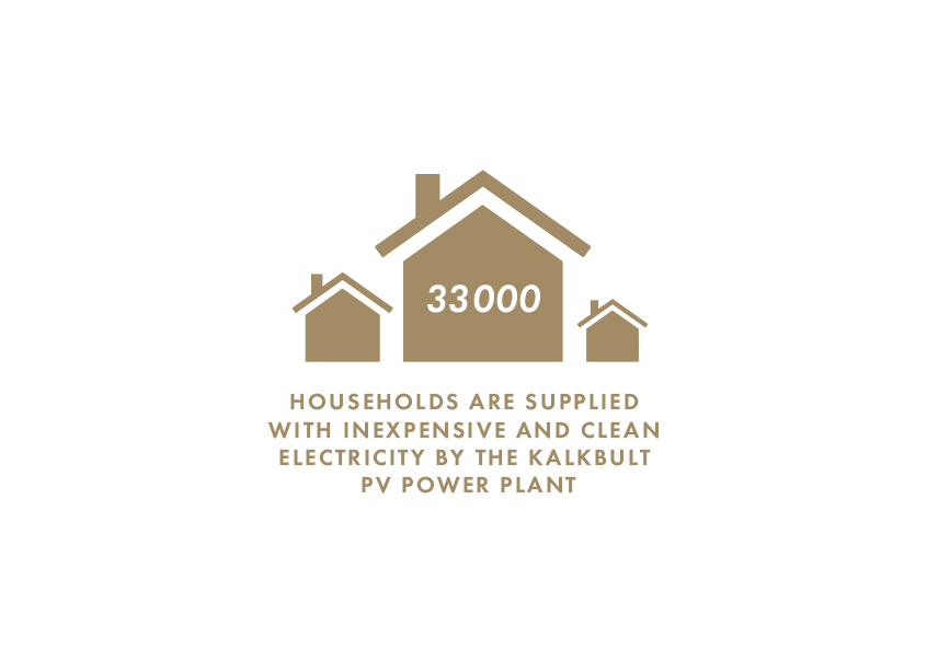 Households are supplied with inexpensive and clean electricity by the kalkbult PV Power Plant