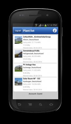 Plant list display