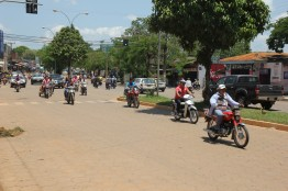 Bustling, loud and choked with exhaust. The motorcycles in Cobija are a regular part of the cityscape.