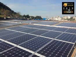 Award-winning PV-diesel hybrid project: 200 kW of installed solar energy on the roof of the plastic factory Advanced Plastic Industries (API) in Zouk Mosbeh, Lebanon, to complement 3 x 750 kVA of diesel generator power.