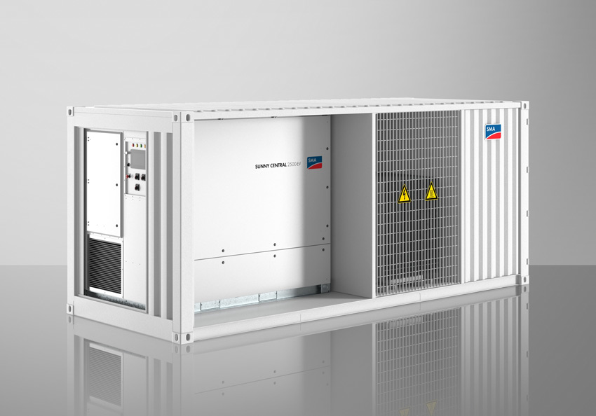 Compact and feeds directly into the grid: the SMA Medium-Voltage Power Station.