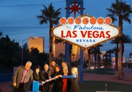 "Even the the ""Welcome to Fabulous Las Vegas"" sign is running with the Sunny Boy TL."