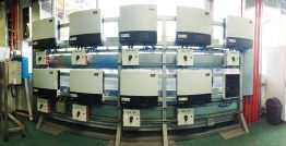 Just one small bank of the 98 Sunny Tripower 24000TL-US inverters used to power the PepsiCo bottling plant.