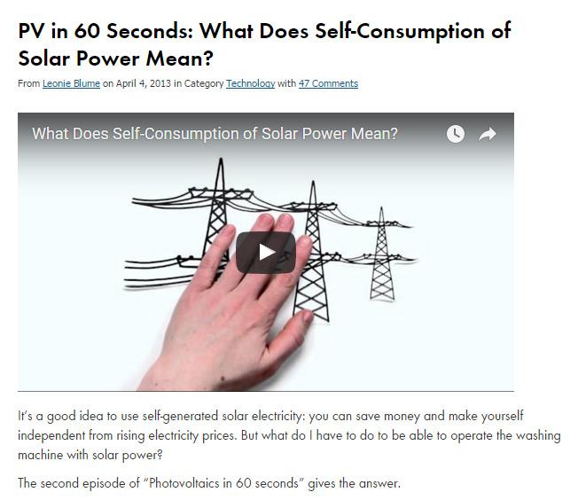 selfconsumption