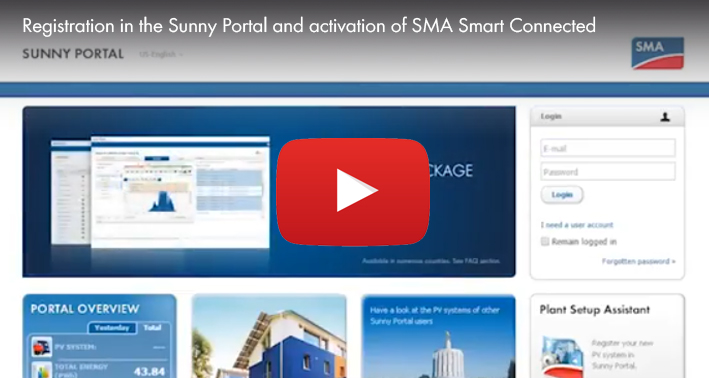 How to Register Your PV System in Sunny Portal and Activate SMA Smart Connected