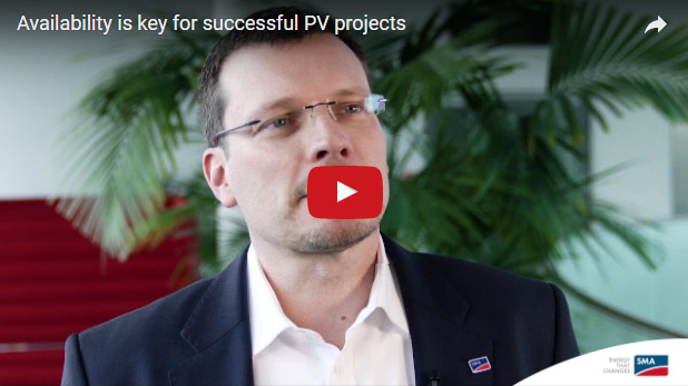 Availability is key for successful PV projects