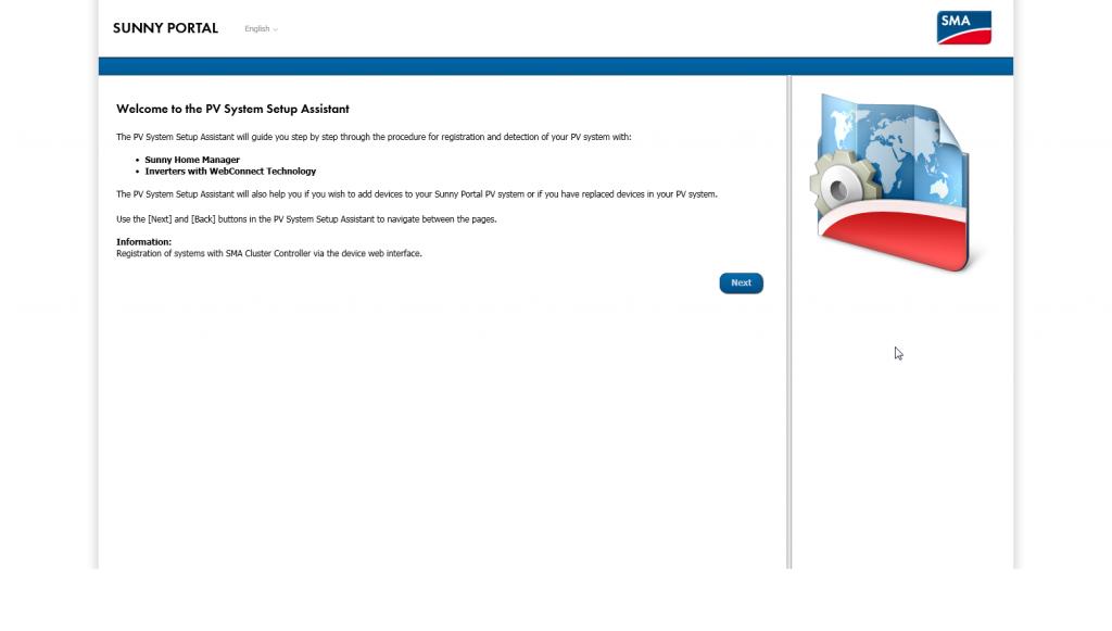 pv system setup assistant-sunny portal home manager