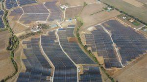 The solar power plants in Montalto di Castro, Italy
