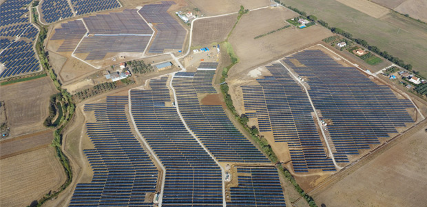 The solar power plants in Montalto di Castro, Italy