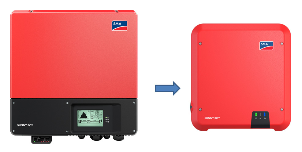 sunnyboy solarinverter old vs new