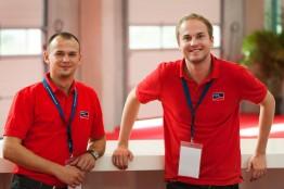 Andreas und Azubi-Kollege Dietrich im Einsatz