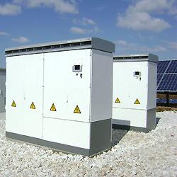 Sunny Central 500 CP-Wechselrichter in der 1,15 MWp-Anlage in Sbor, Bulgarien