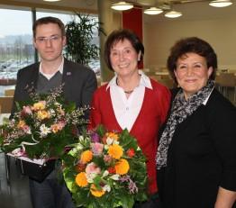 Stefan und Tahere (r.) gratulierten Gisela.