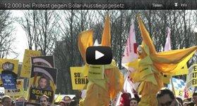 12000 bei Protest gegen Solar-Ausstiegsgesetz