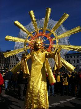 Die Sonne war auch da, Solardemo in Berlin am 5.03.2012