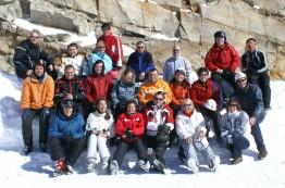 Die SMA Skifahrer-Truppe unterwegs