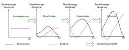 Darstellung des Peitschenschlag-Effekt (© Knolmayer, G. et al.)
