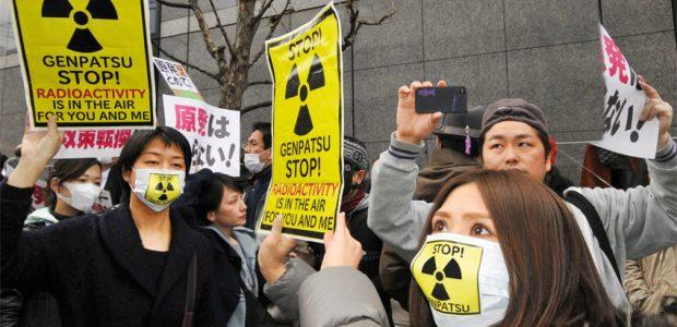 Japanische Anti-Atom-Aktivistin