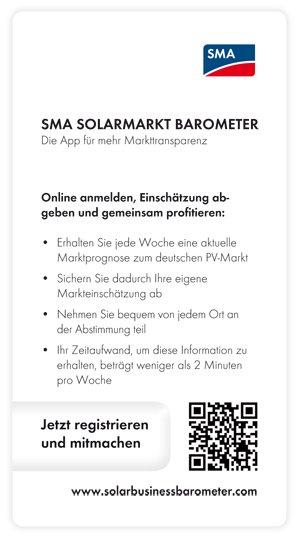 Das SMA Solarmarkt-Barometer
