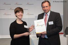 Julia Endt bei der EWO-Preisverleihung in Berlin