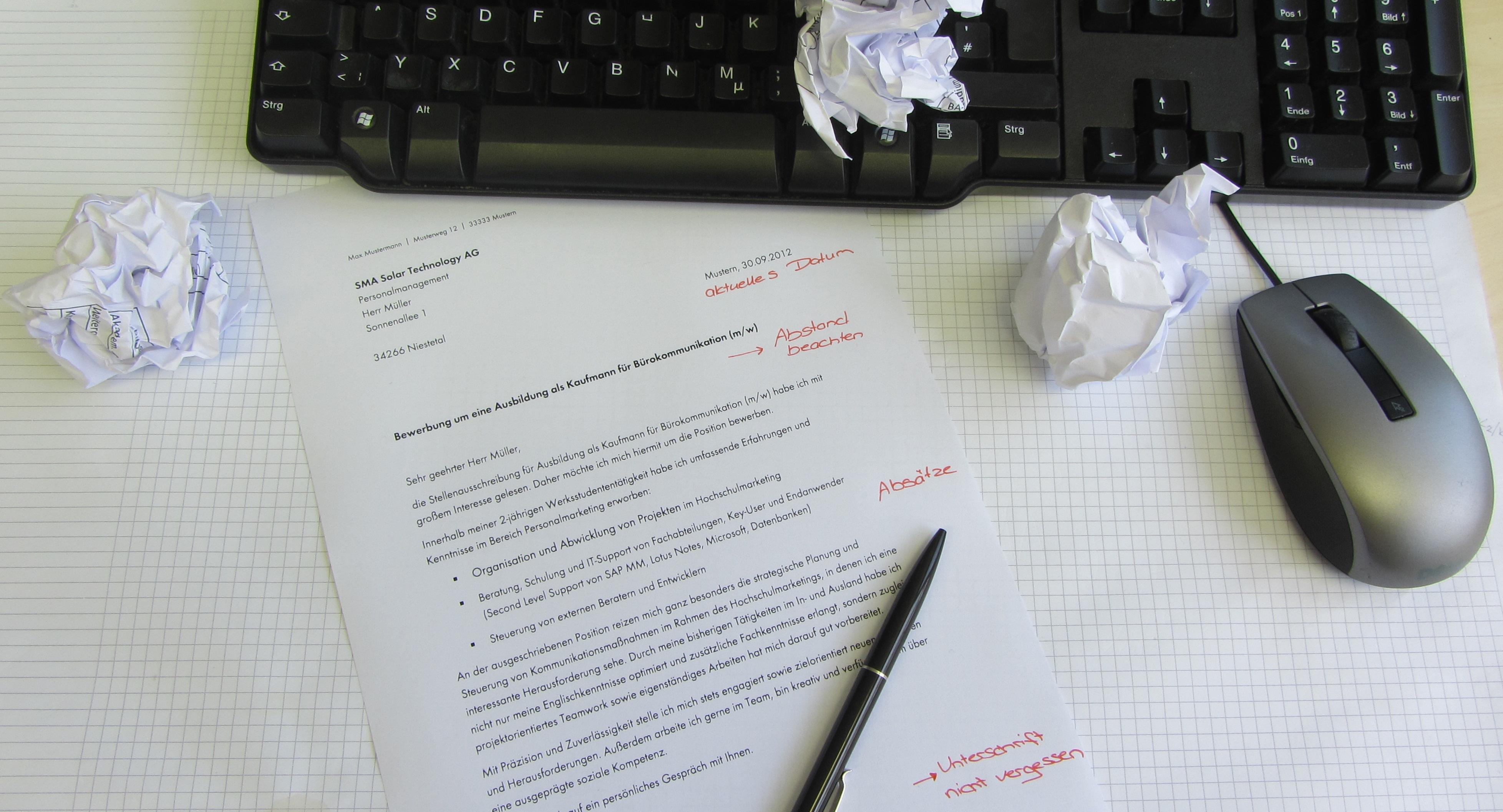 Bewerbungstipp Nr. 1: Das Anschreiben - Sunny. Der SMA Corporate Blog