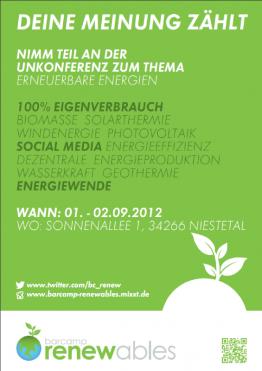 Flyer Barcamp Renewables
