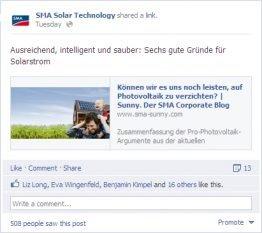SMA Facebook Post