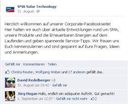 SMA Facebook Welcome Post