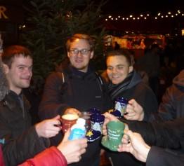 Zum Abschluss gab´s Glühwein für die Studenten