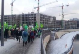 Gemeinsam ging´s zum Brandenburger Tor