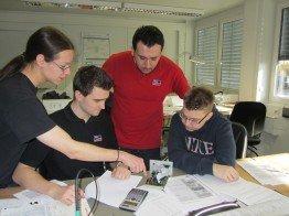 Prüfungsvorbereitung mit Kollegen