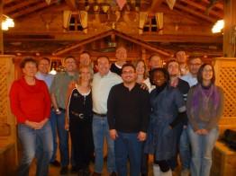 Zum Abendessen ging´s mit allen Kollegen zur Königsalm
