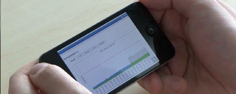 Home Manager Benutzeroberfläche auf SmartPhone
