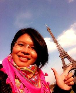 Piyawan auf Reisen in Paris