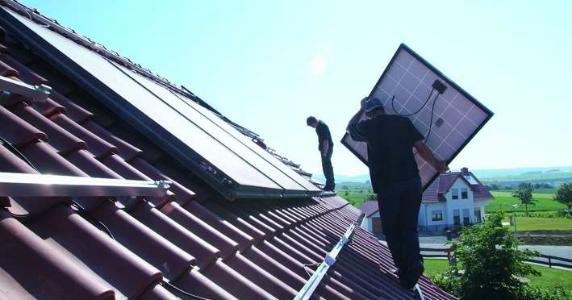 Recycling einer Solaranlage