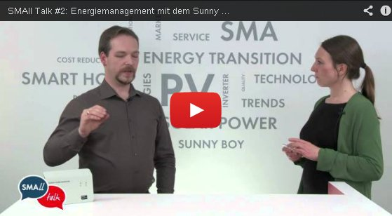 small talk 2 energiemanagement mit dem sunny home manager sunny der sma corporate blog. Black Bedroom Furniture Sets. Home Design Ideas