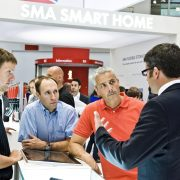 Customers in front of the SMA Smart Home