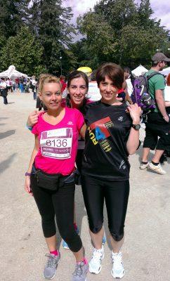 Laura und Barbara nach dem Lauf in Mailand.
