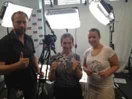 Das Team: Udo, ich und Silvi