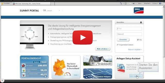 servicetipp 7 sunny home manager anlagen und anlagen mit sma webconnect funktion im sunny. Black Bedroom Furniture Sets. Home Design Ideas