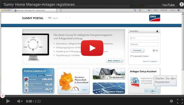 sunny portal registrierung