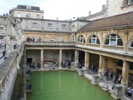Kathrin erkundete das schöne römische Bad.