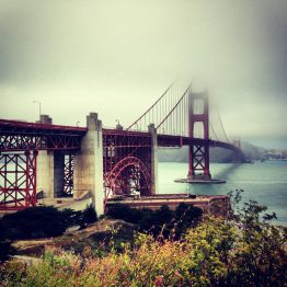 Die Golden Gate Bridge.